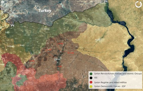 #Opposition Advancing from different Fronts #Northern_Aleppo getting Closer to #Albab #SDF Advancing but it seams there goal is not #Albab