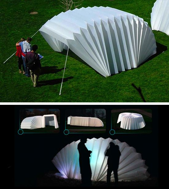 refugio plegavel - estrutura bem simples