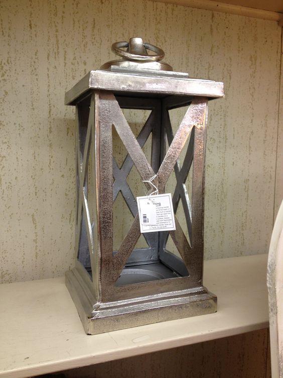"""Keira Style Aluminum Lantern. 24"""" tall. $208.00. 2 available."""