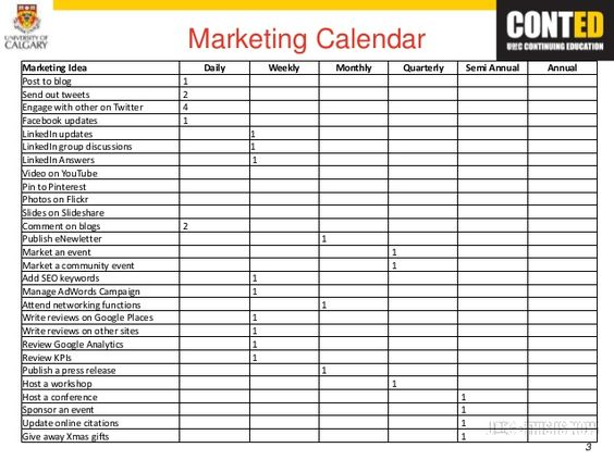Quarterly Calendar Clipart   Marketing Calendar