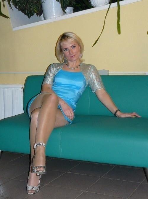 Sexy legs Russian mature women!