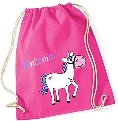 Einhorn Mädchen Rucksack Tiermotive bedruckt Backpack Beutel Tasche Gymbag