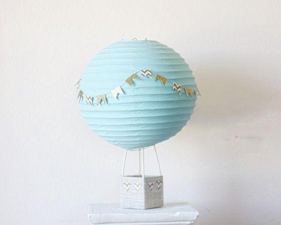 Hot Air Balloon décoration - bébé douche pièce maîtresse décoration - douche nuptiale Decor - Decor mariage - pépinière Decor - Aqua