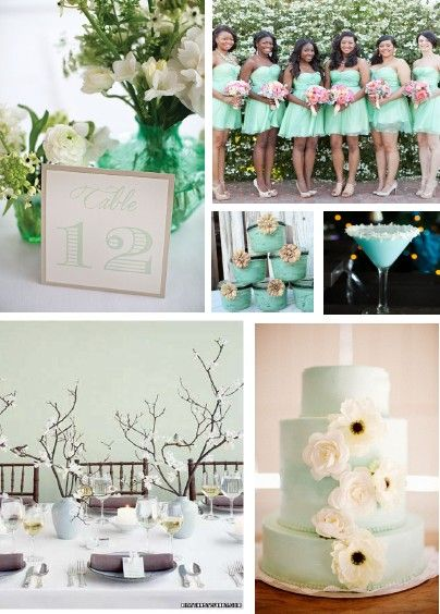 Mint Wedding Theme. Another one of my projects in Architecture at MU