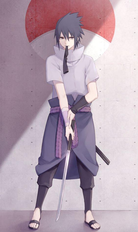 剣を構える万華鏡写輪眼うちはサスケ