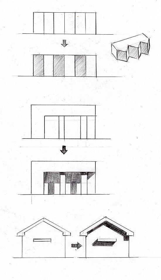 立面図の影のつけ方の基本パターン14種類 建築パース 建築
