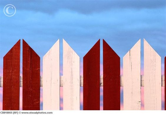 Red-and-White Picket Fence