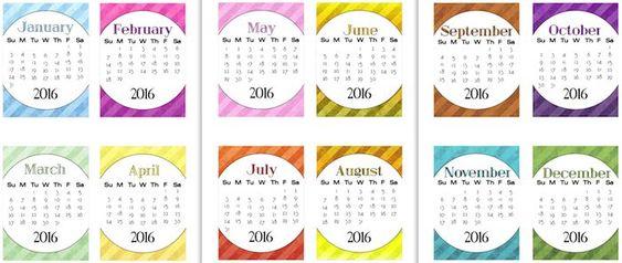 2016 Calendar - too soon? | Calendar, Cards and The One