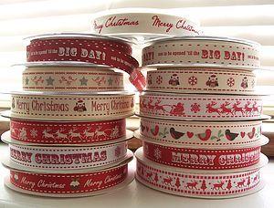 Christmas 15mm Ribbon Three Metre Lengths - ribbon & wrap
