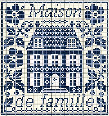 Maison de ville cross stitch free point de croix - Maison point de croix ...