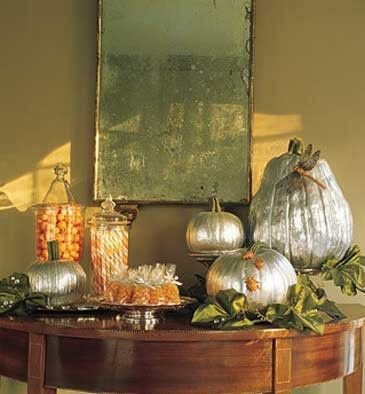 silver pumpkin decor by camber: