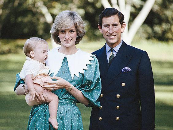 Prince William, Princess Diana and Prince Charles in New Zealand in April 1983