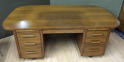 Danish-Style-Mid-Century-Modern-Walnut-Desk-Executive-Large-Industrial-Partners
