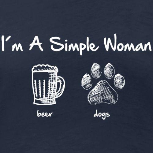 Simple Woman Beer White Geschenke Fur Hundeliebhaber Weisheiten