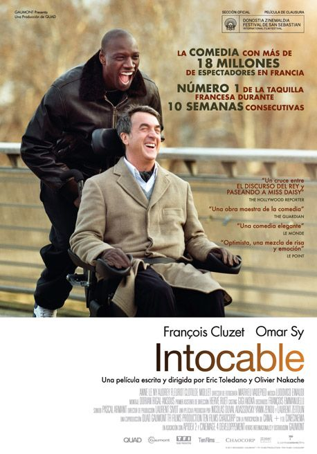 ntouchables.  Dirección y guion: Eric Toledano y Olivier Nakache.  País: Francia.  Año: 2011.  Duración: 115 min.