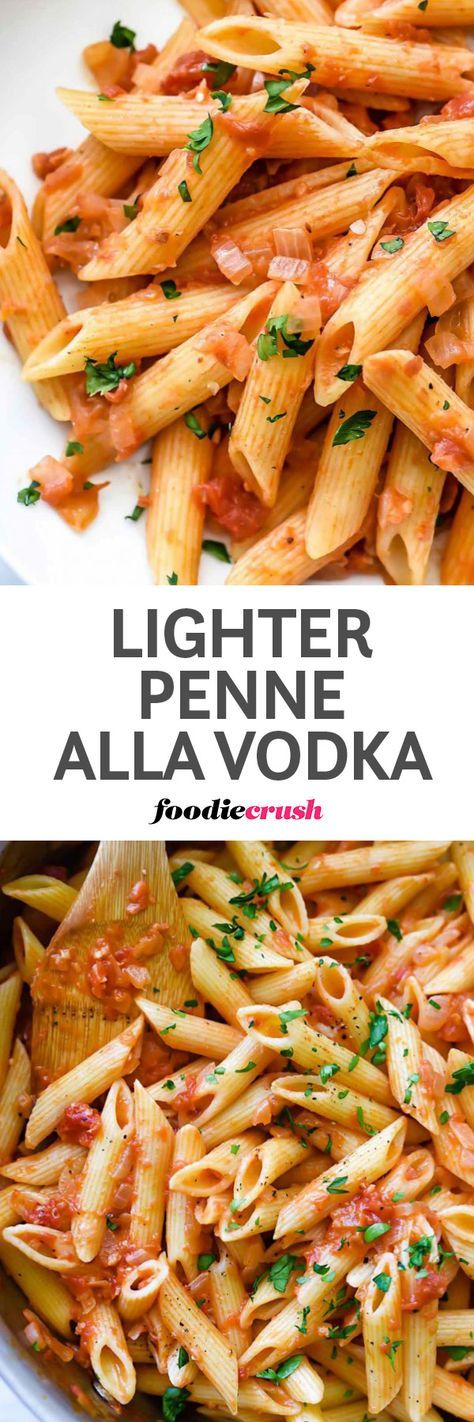 Easy Penne Alla Vodka Pasta Recipe | Almond Milk Recipe | Penne ala Vodka Recipe | Vodka Sauce | Light Pasta Sauce | no cream vodka sauce | Skinny pasta sauce | This classic easy American-Italian penne pasta recipe uses almond milk for a lightened up calo