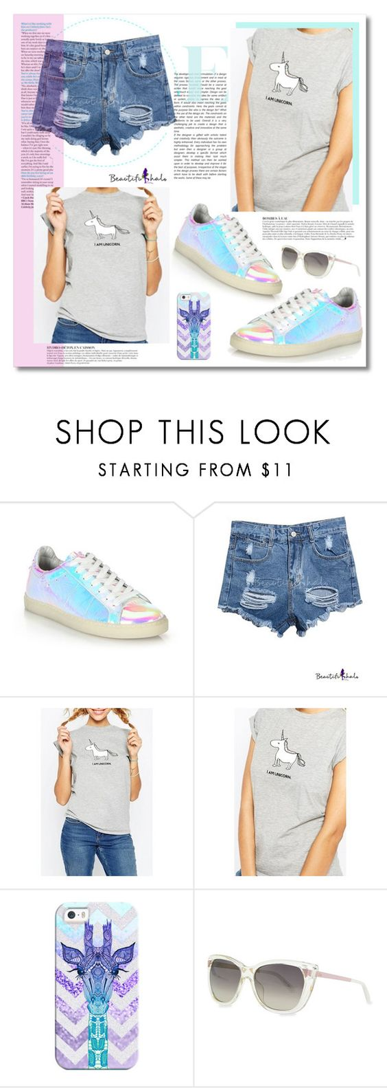 """I Am A Unicorn"" by katrinaalice ❤ liked on Polyvore featuring IRO, Anja, Casetify, Christian Dior, women's clothing, women, female, woman, misses and juniors"