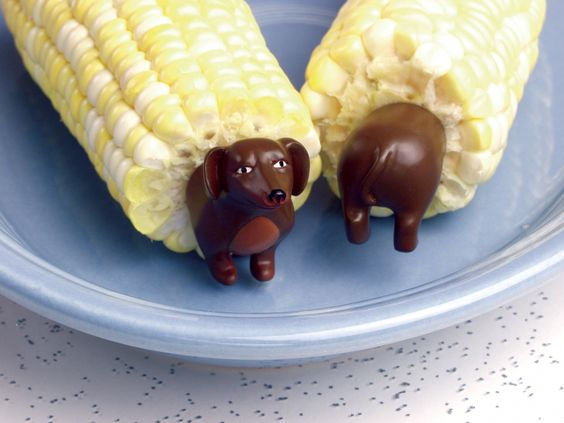 Doggie Corn Holders that our little ones just love. They will be a hit at any BBQ $9.99.