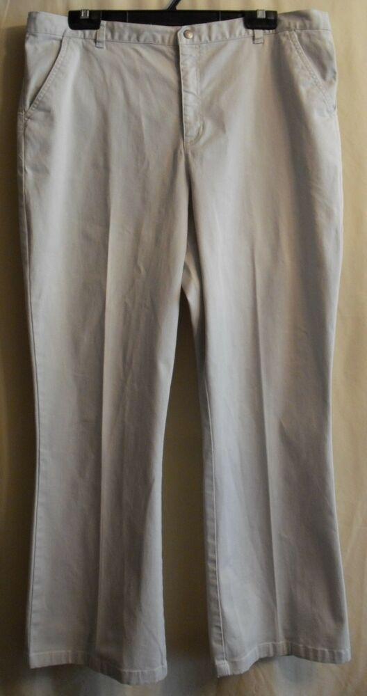 Covington Womens Black Long Stretch Pants Trousers Flat Front Size 10 12 14