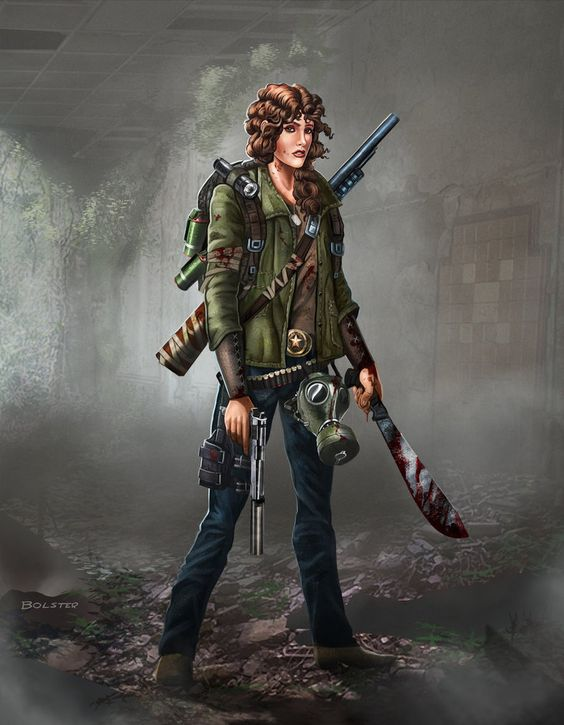 Anime Zombie Characters : Here is a lady survivor to go with my zombie survival
