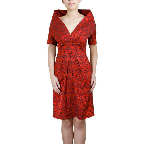 I'm not sure if this would suit me, but I dig it. Gotta have a red dress.: Shawl Patterns, My Style