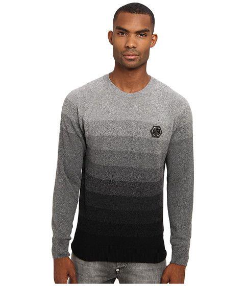 Philipp Plein Degrade Pullover Black - Zappos Couture