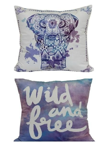 Go wild with this elephant reversible throw pillow. In multi. PRODUCT FEATURES - Watercolor detailing PRODUCT DETAILS - 17''H x 17''W - Polyester - Fiberfill fill - Spot clean - Imported