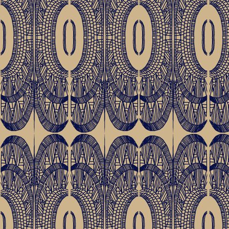 deco empire navy on sand fabric by bymindy on Spoonflower - custom fabric