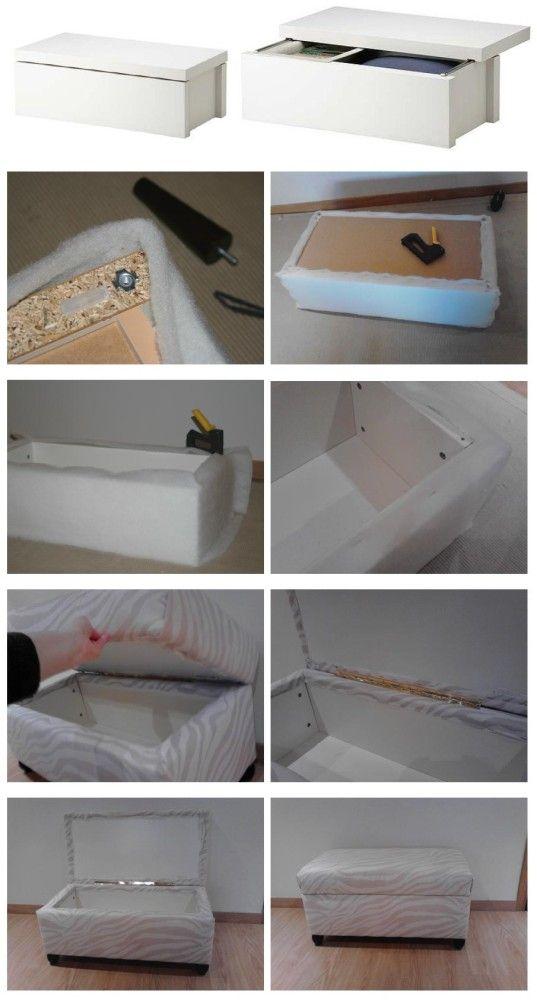 Pinterest the world s catalog of ideas - Ikea hack storage ottoman ...