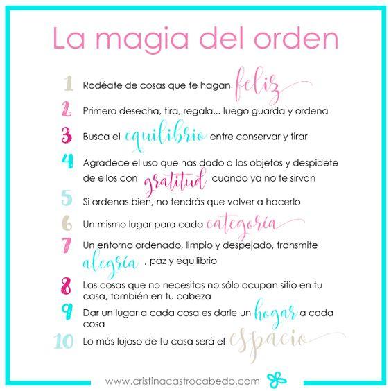 La magia del orden 10 ideas para ordenar tu casa y tu - Orden y limpieza en casa ...