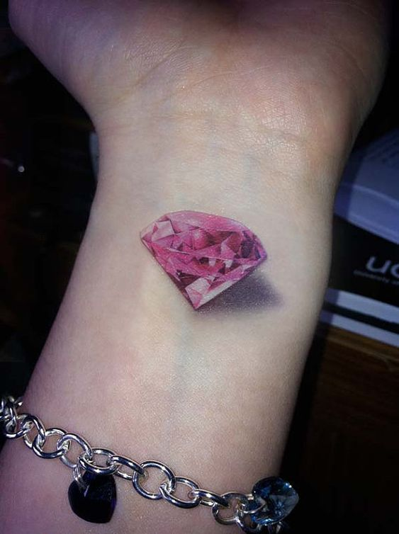 Pink diamond tattoo: