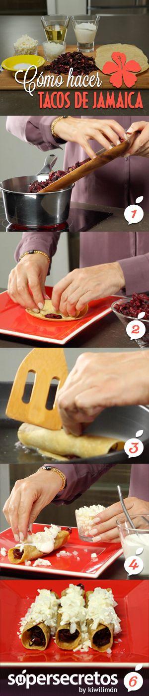 Cómo hacer tacos de jamaica