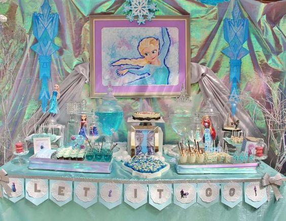 "Frozen (Disney) / Birthday ""Leightons 2nd Birthday -Frozen Dessert table""   Catch My Party"
