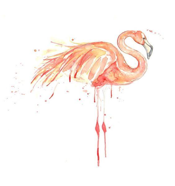 Watercolor flamingo. | Inked | Pinterest | Watercolors ...