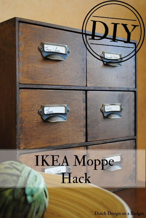 dutch design on a budget diy van ikea moppe naar vintage card catalog ikea hack en idee n. Black Bedroom Furniture Sets. Home Design Ideas