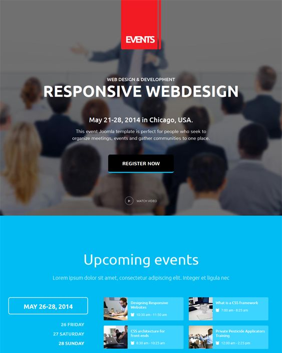9 best 9 More of the Best Joomla Templates for Events images on ...