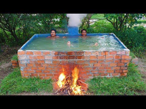 Youtube Diy Swimming Pool Swimming Pools Backyard Outdoor Bathtub