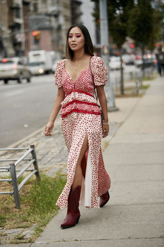 Aimee Song on the street at New York Fashion Week. Photo: Imaxtree