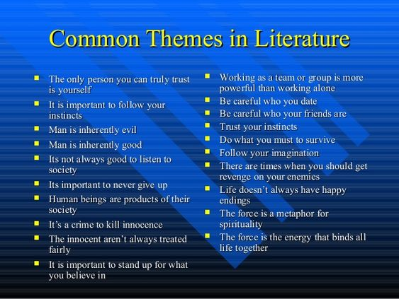 Evergreen Themes in Literature