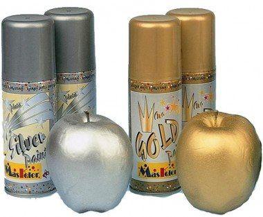 Spray Dourado e Prateado