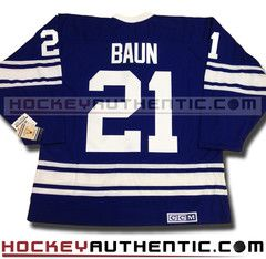 Bobby Baun Toronto Maple Leafs 1967 CCM vintage jersey | Hockey Authentic