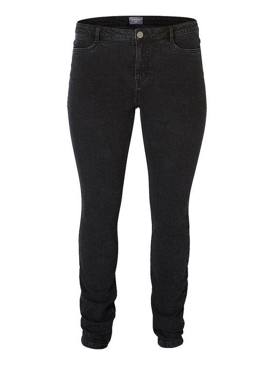 """JUNAROSE Jeans, 5 Taschen, Gürtelschlaufen, Schrittlänge beträgt 33"""",   98% Baumwolle, 2% Elasthan..."""