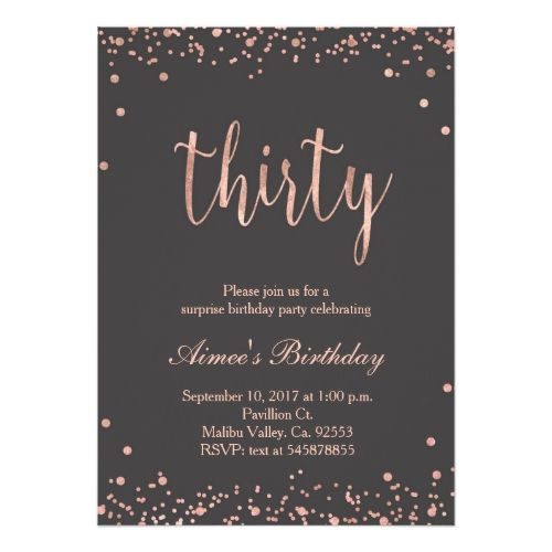 10 Personalised Rose Gold PHOTO Birthday Party Invites Invitations 18th 30th
