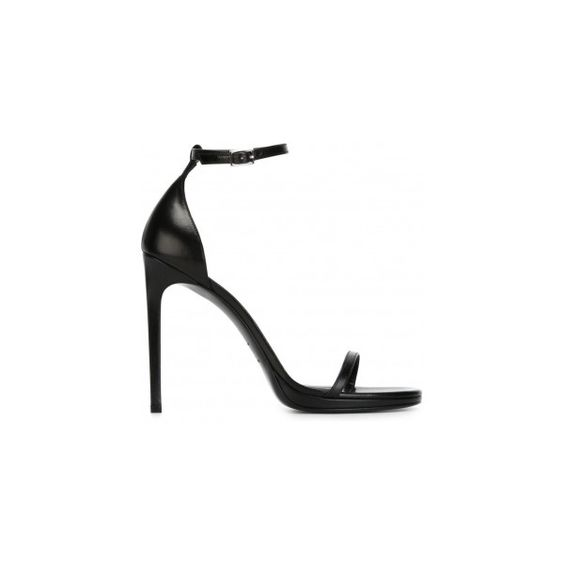 Saint Laurent Jane Sandals ❤ liked on Polyvore featuring shoes and sandals