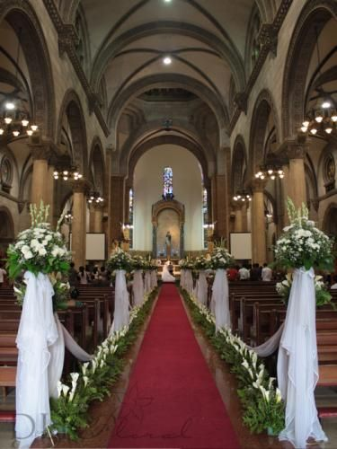 Church Fl Arrangements Pinterest Wedding Flower Decorations Manila Philippines A