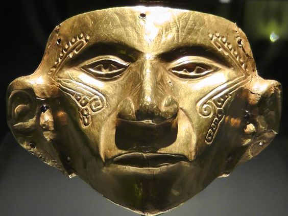 Pre-Colombian gold mask #Mask
