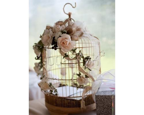 Jaula con flores centro de mesa para boda centros de - Centros de mesa con flores ...