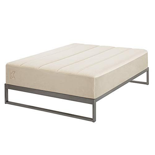 Minimo Industrial Gunmetal 12 Inch Metal Bed Frame Mattress Foundation Platform Bed Wood Slat Support No Boxspring N Metal Bed Frame Metal Beds Bed Frame