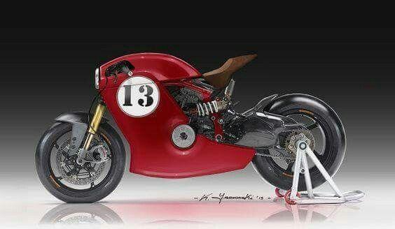 Ducati Cafe Racer Design by Kenyamasaki