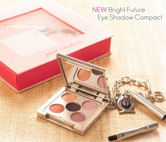 The salon has a limited number of these coming in stock soon.  It is a limited edition mirrored compact that features five eye shadow colours along with a travel sized brush, adorned with a rose coloured Swarovski crystal and packaged in a decorative box.